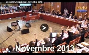 aperçu du conseil municipal du 21 novembre