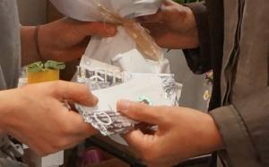 Achat en Pêches chez Pompon fleurs juillet 2014 détail