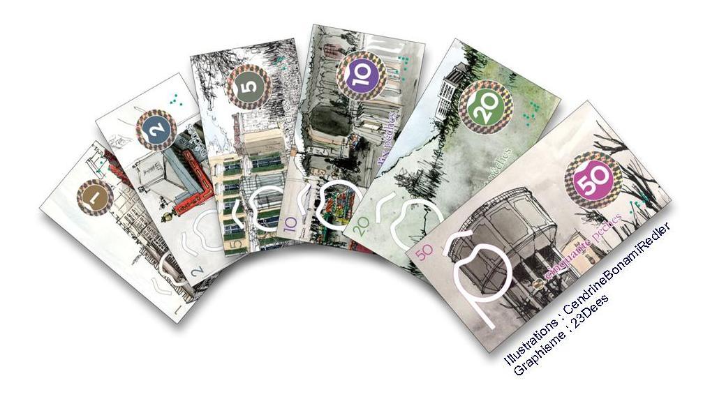 Cout d'impression de coupons de monnaie locale